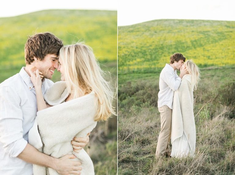 Marin County Wildflowers Engagement Session